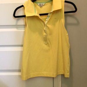 Sleeveless yellow Lilly polo